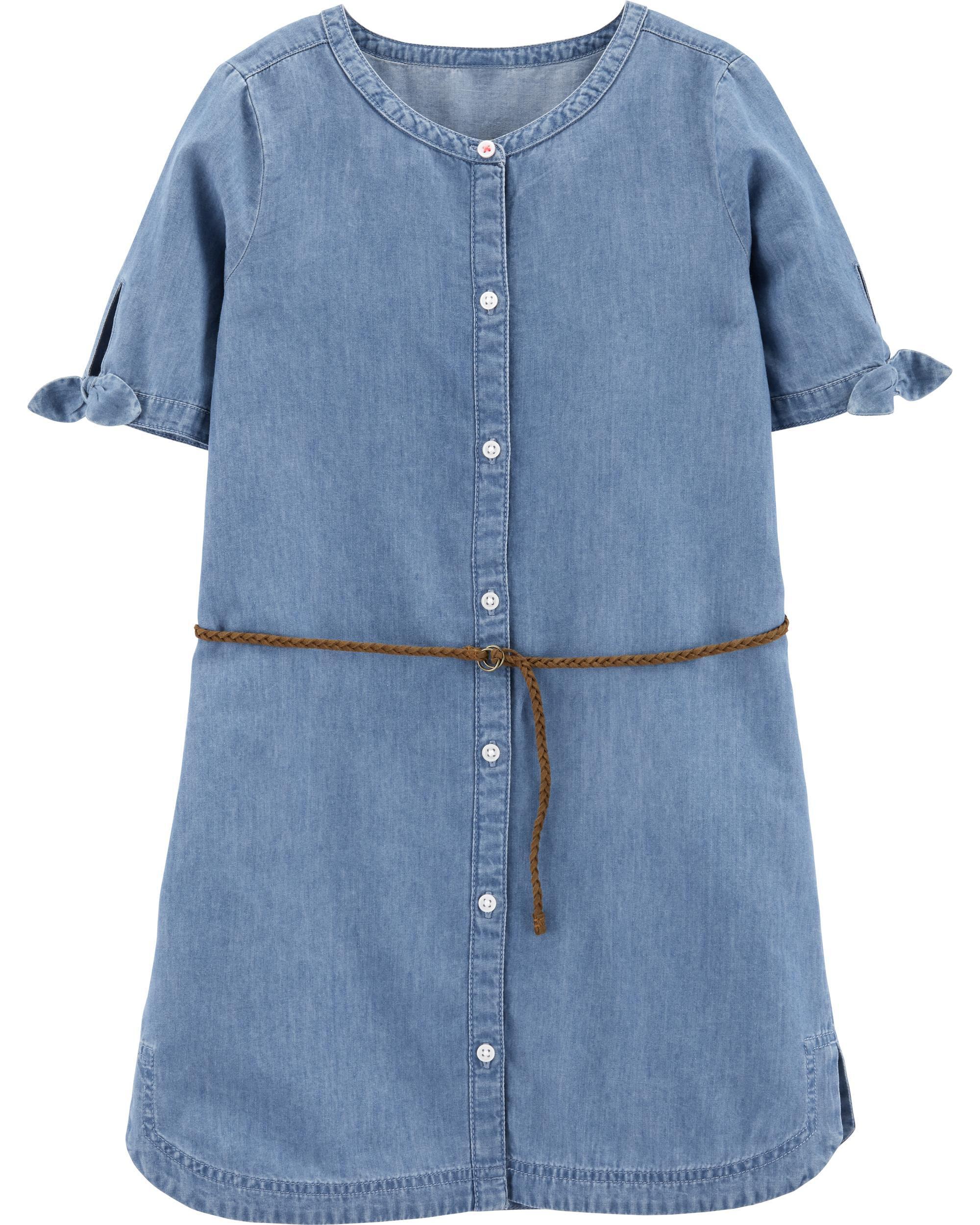 *CLEARANCE* Denim Shirt Dress