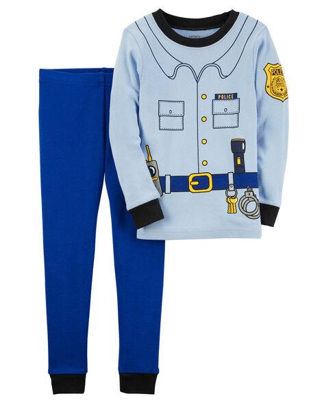 2-Piece Police Officer Snug Fit Cotton PJs