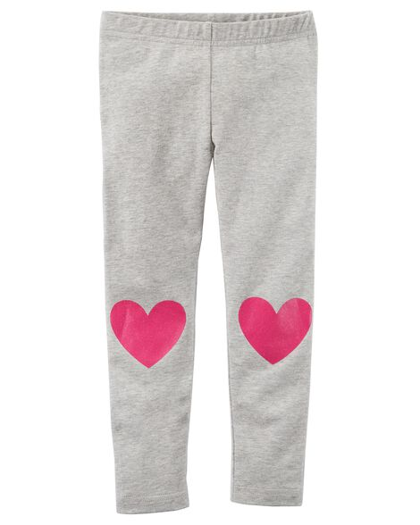 ec290b8f02c1f Heart Leggings | Carters.com