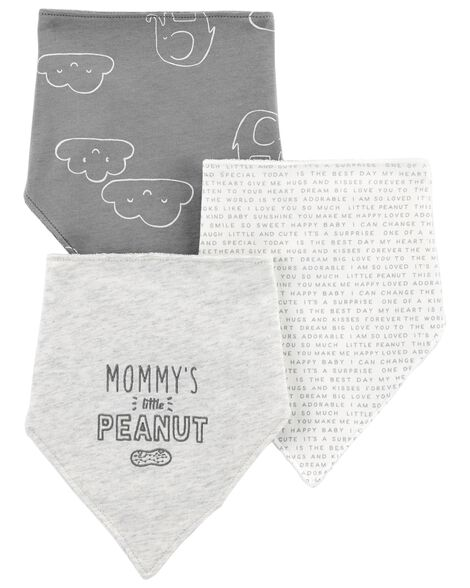 3-Pack Bandana Teething Bibs