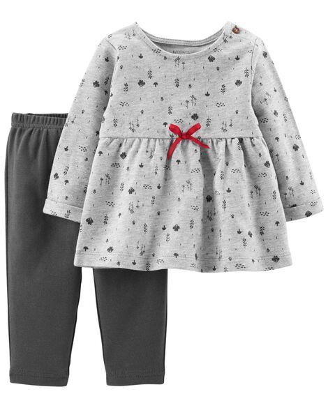 Certified Organic 2-Piece Dress & Pant Set