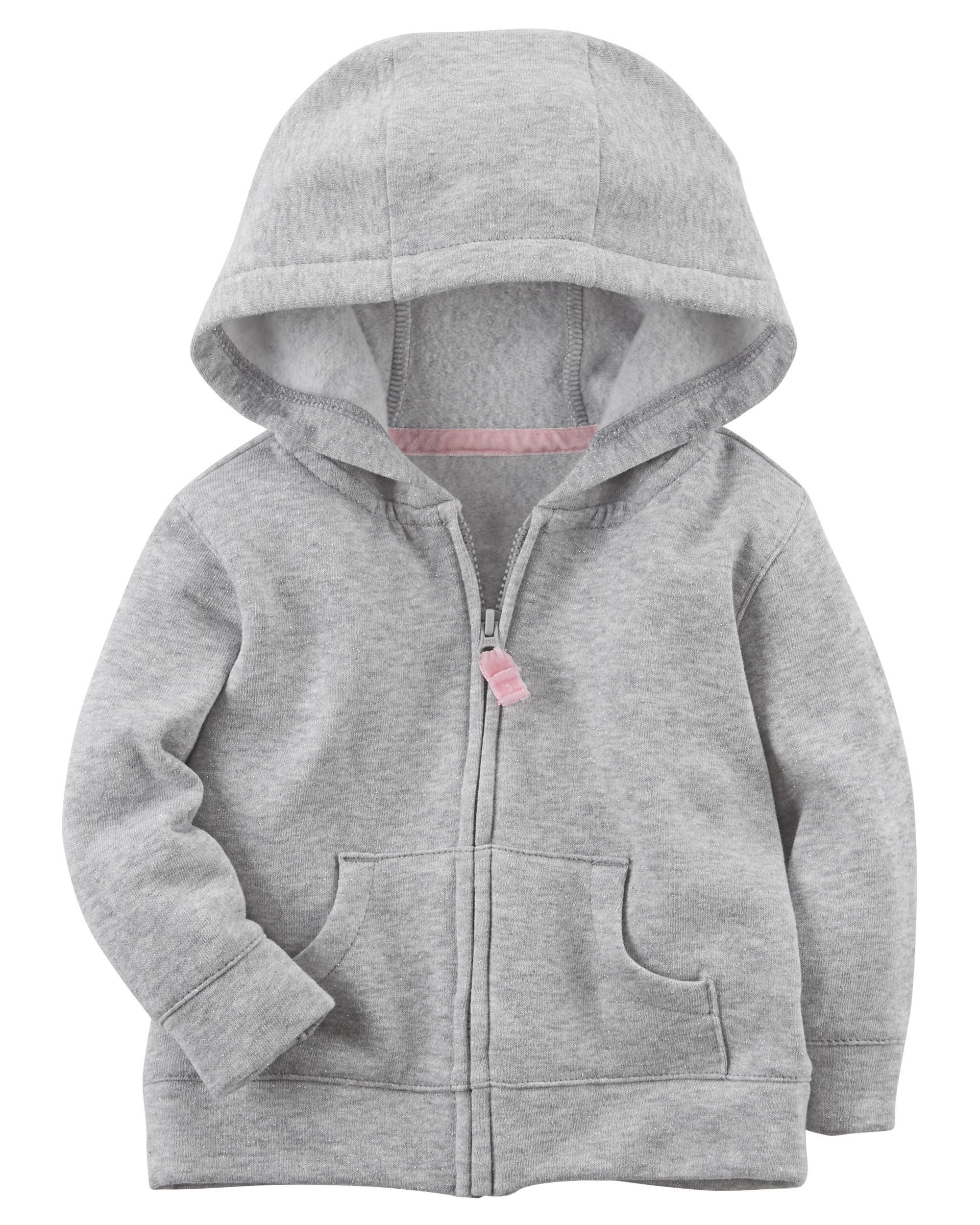 sparkle fleece zipfront hoodie