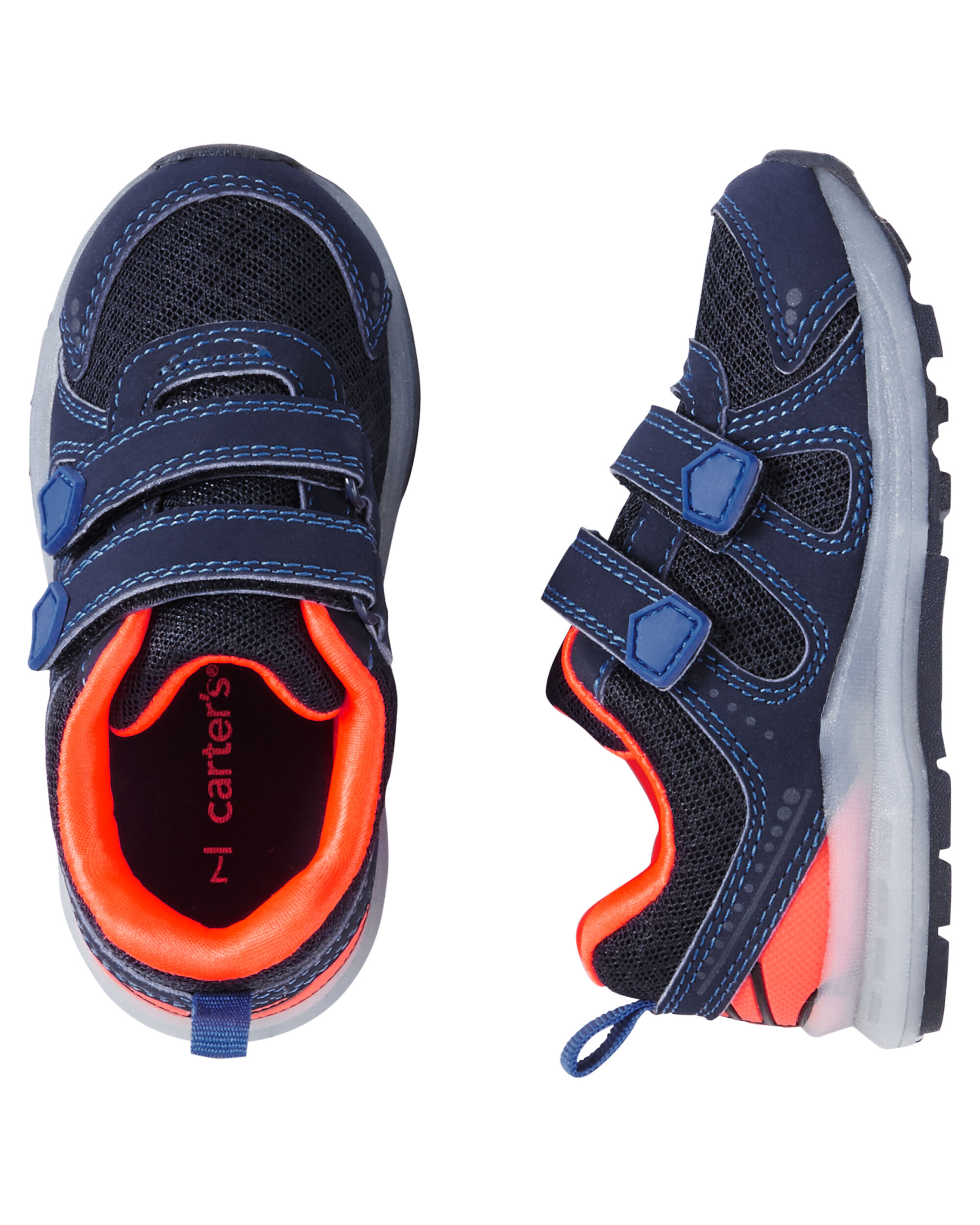 Carter/'s Toddler Boys Athletic Sneakers Size 7 Multi Color