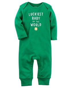 Baby girl clearance clothes sale carters st patricks day jumpsuit negle Choice Image