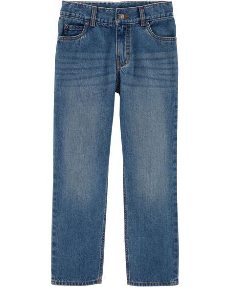 Straight Fit Medium Wash Jeans