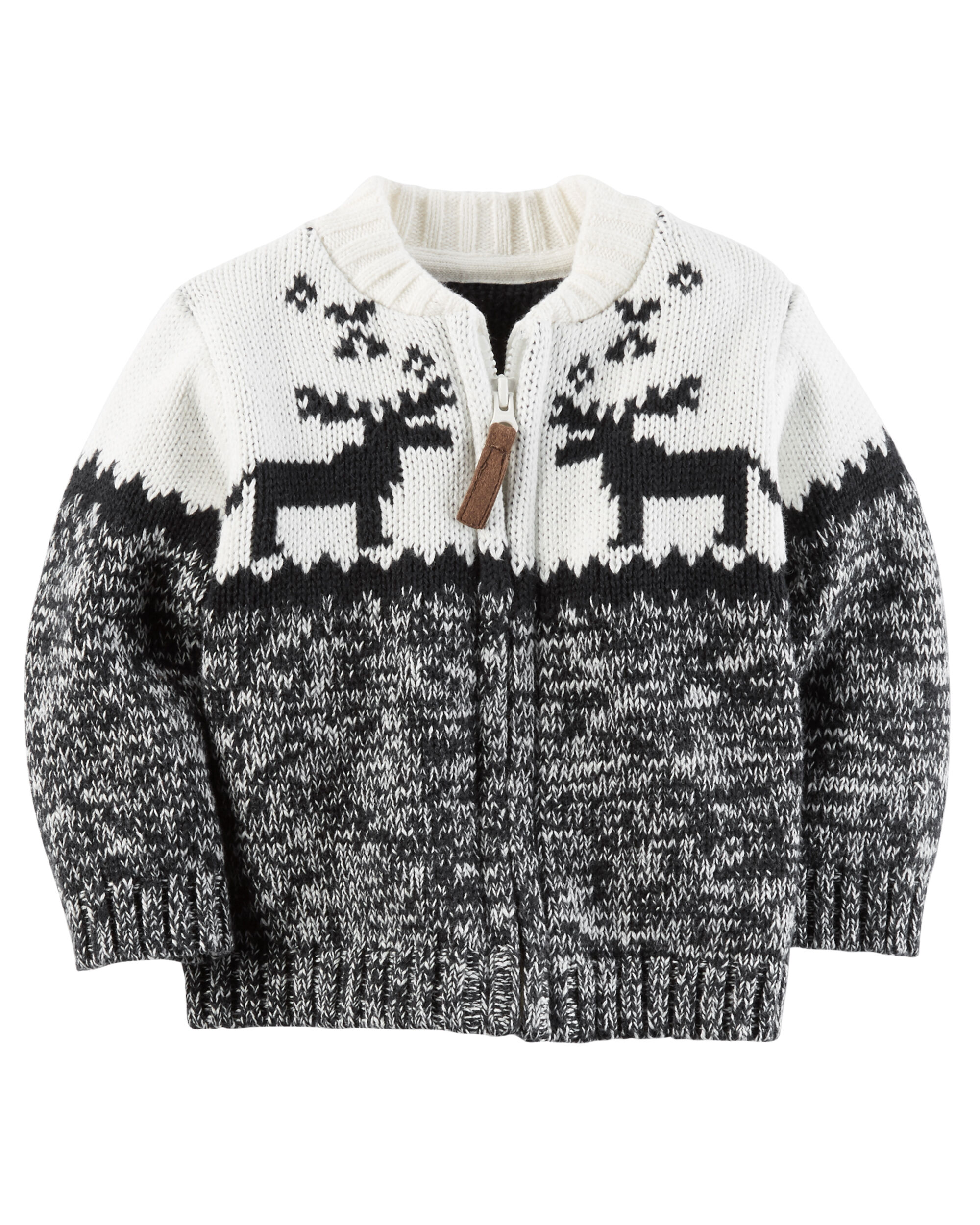 Fair Isle Zip-Front Cardigan | Carters.com
