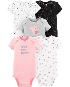 5d6df3971bf24d Baby Girl Bodysuits | Carter's | Free Shipping