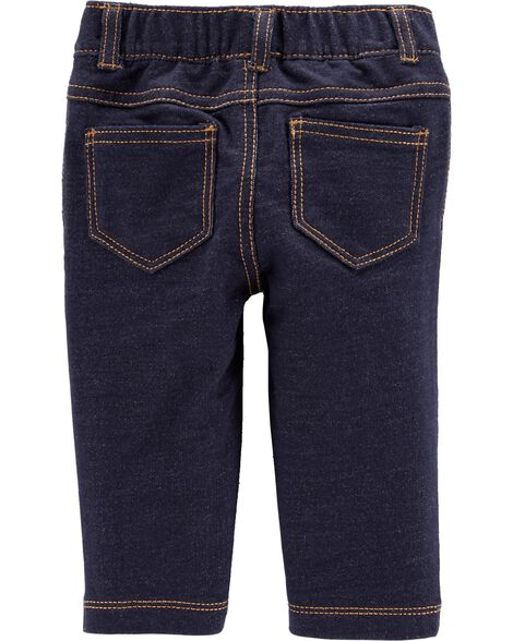 French Terry Knit Denim Pants