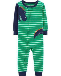 757c2d6711 1-Piece Dinosaur Snug Fit Cotton Footless PJs