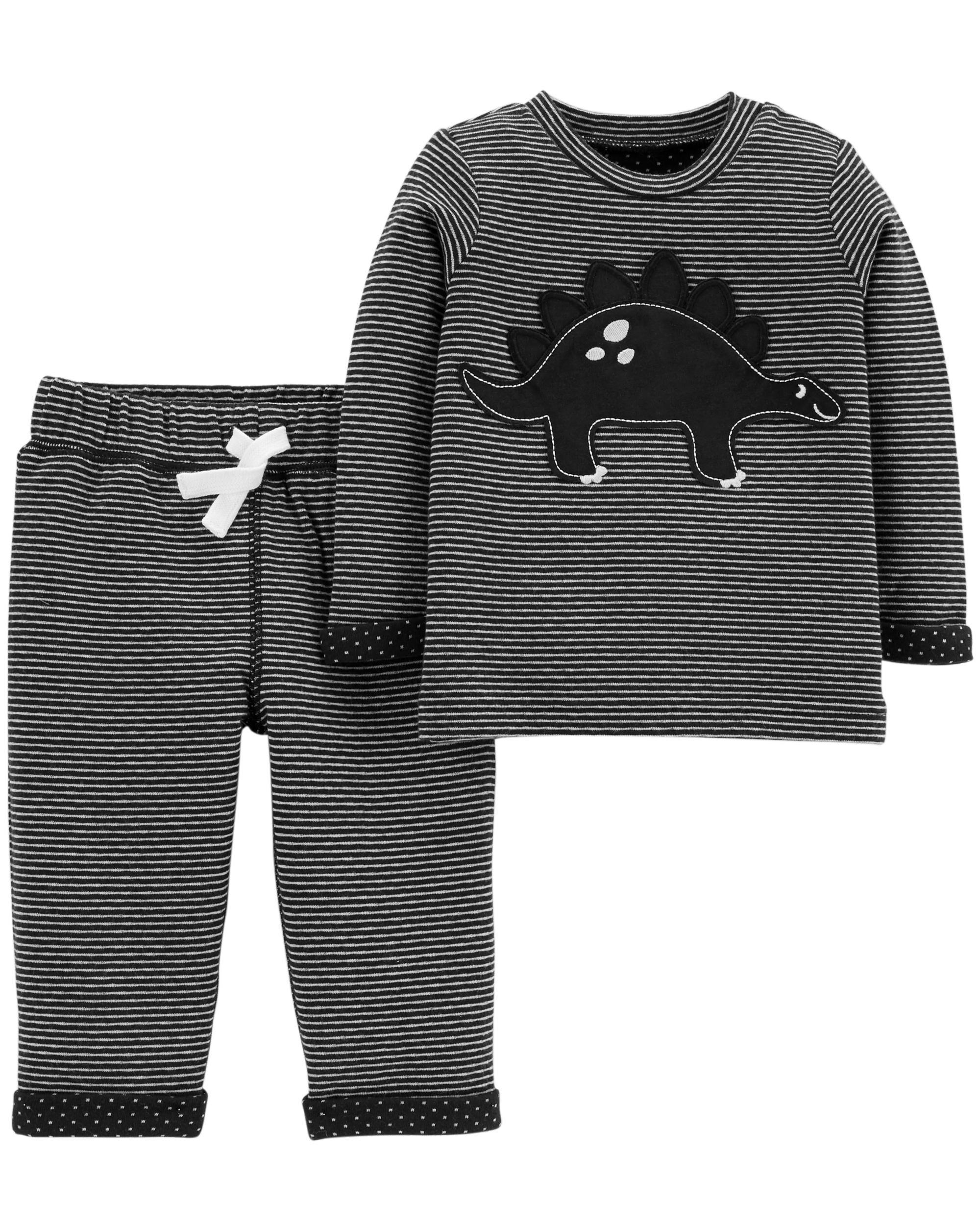 5f00ba691 2-Piece Dinosaur Top & Reversible Pant Set. Loading zoom