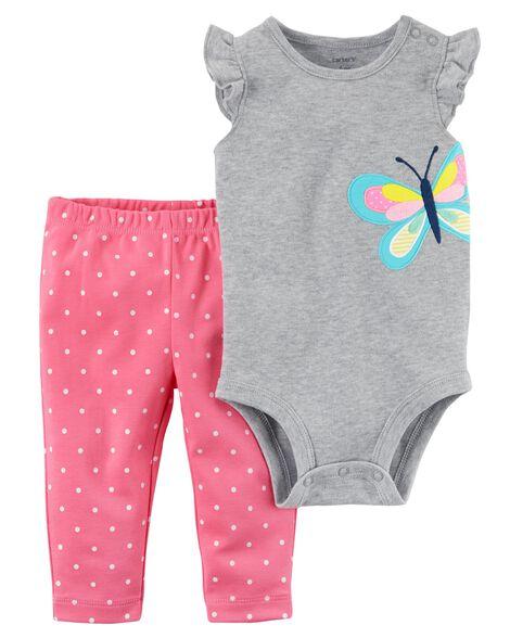 47c356d654af 2-Piece Bodysuit Pant Set