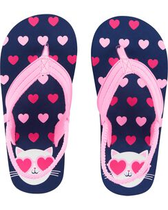 ca3f9b6739071 OshKosh Cat Flip Flops