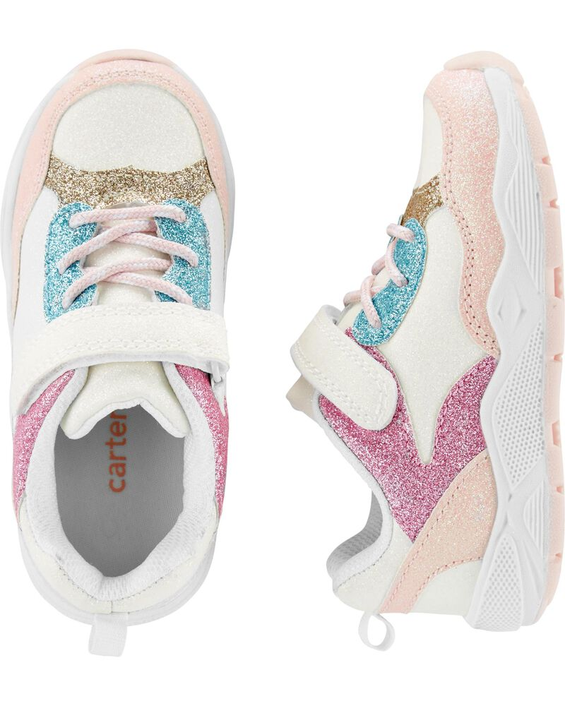 NWT Carter/'s Girls Pink Sparkle Sneakers Shoes 1,10,11,13