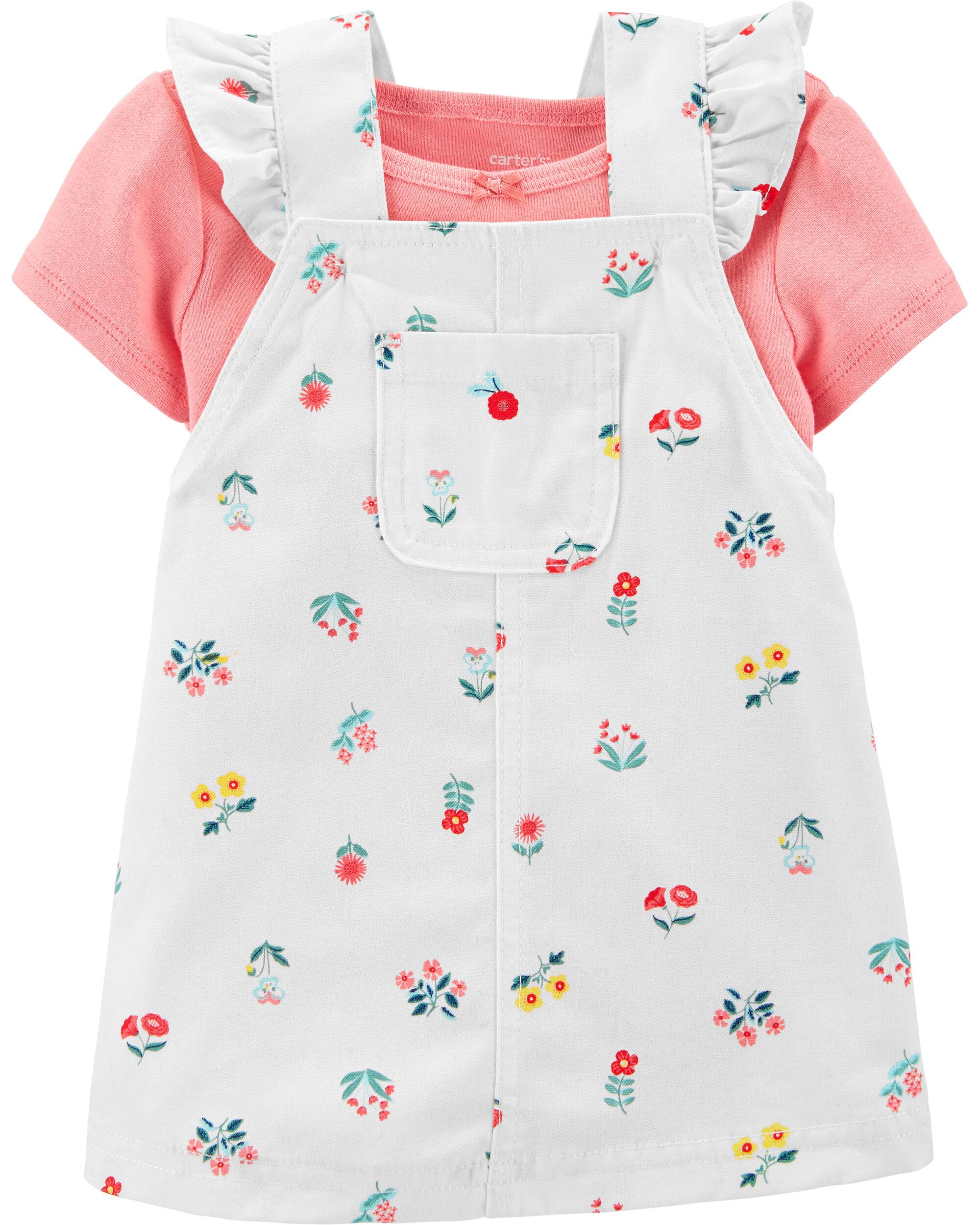 *CLEARANCE* 2-Piece Bodysuit & Floral Skirtall Set