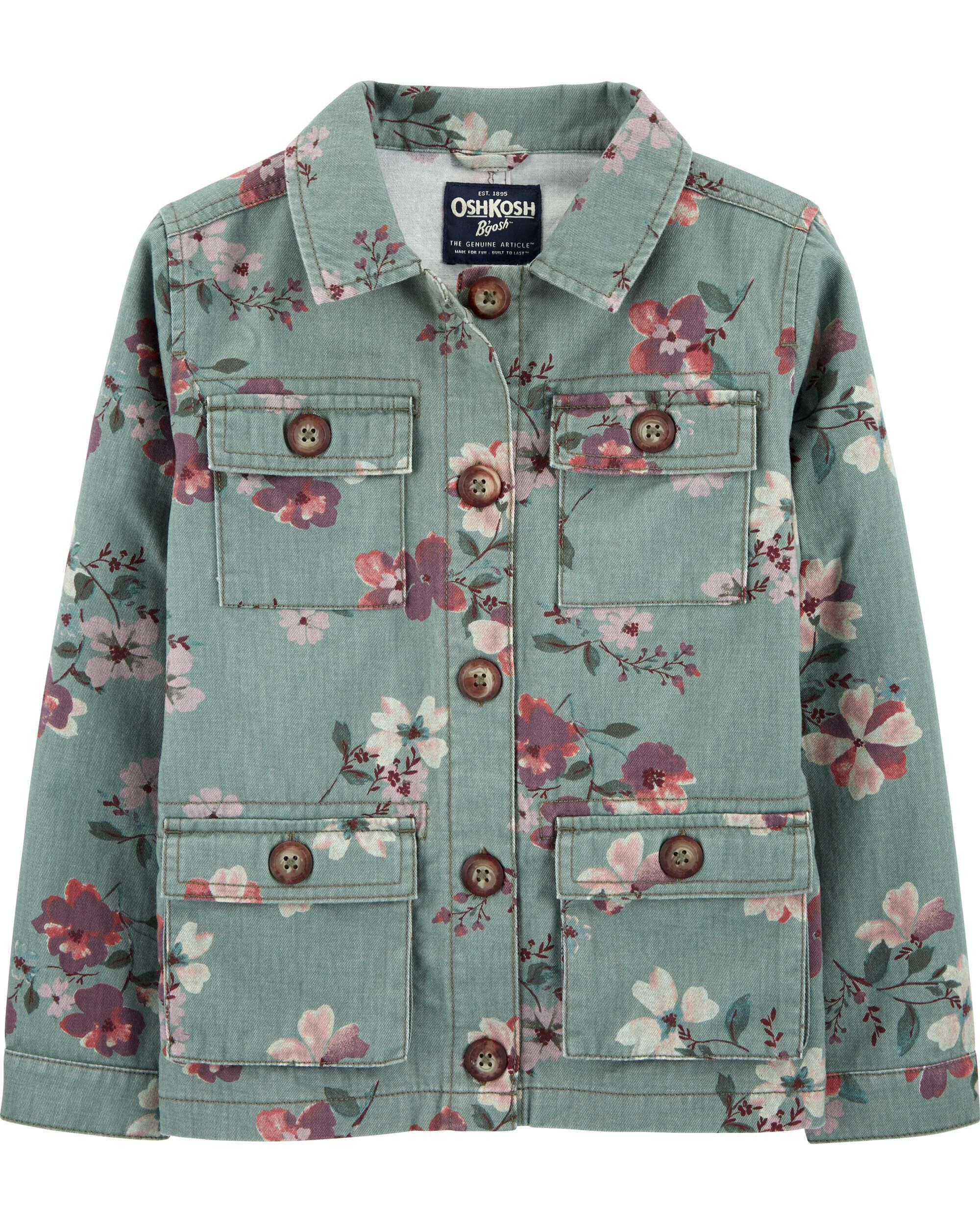 *CLEARANCE* Floral Utility Jacket