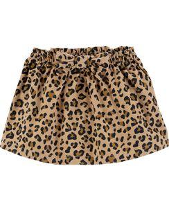 cheetah corduroy skirt