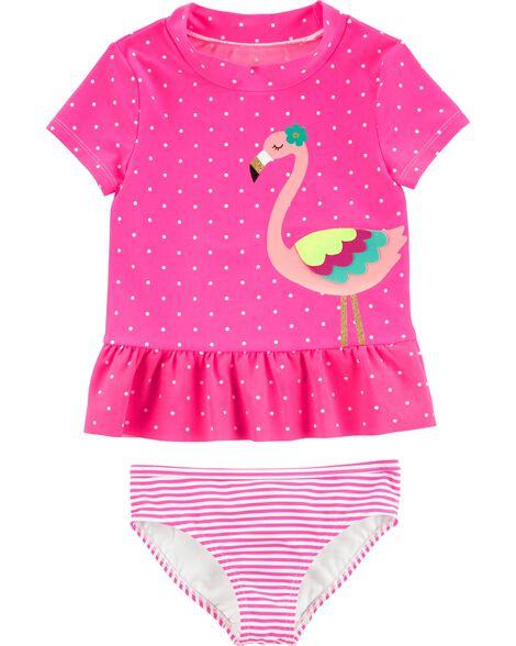 862042523 Carter's 2-Piece Flamingo Rashguard Set   Carters.com