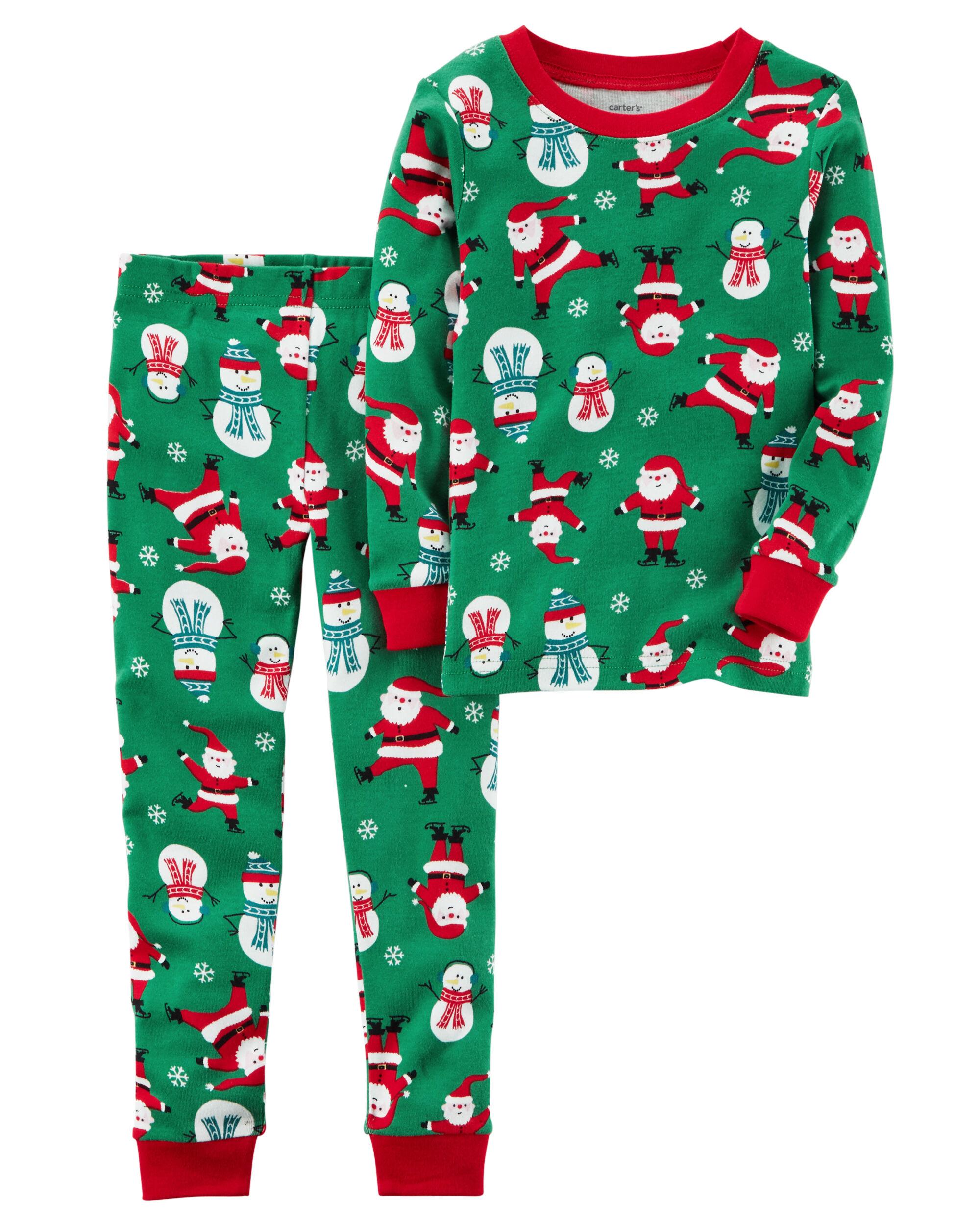 2 piece christmas snug fit cotton pjs loading zoom