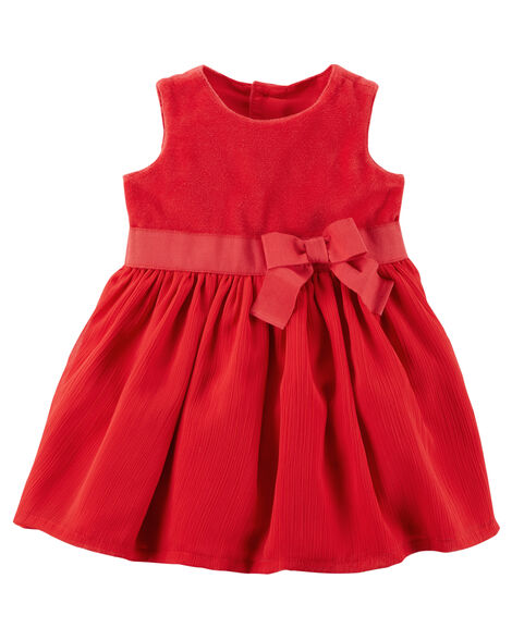 Holiday bow dress carters