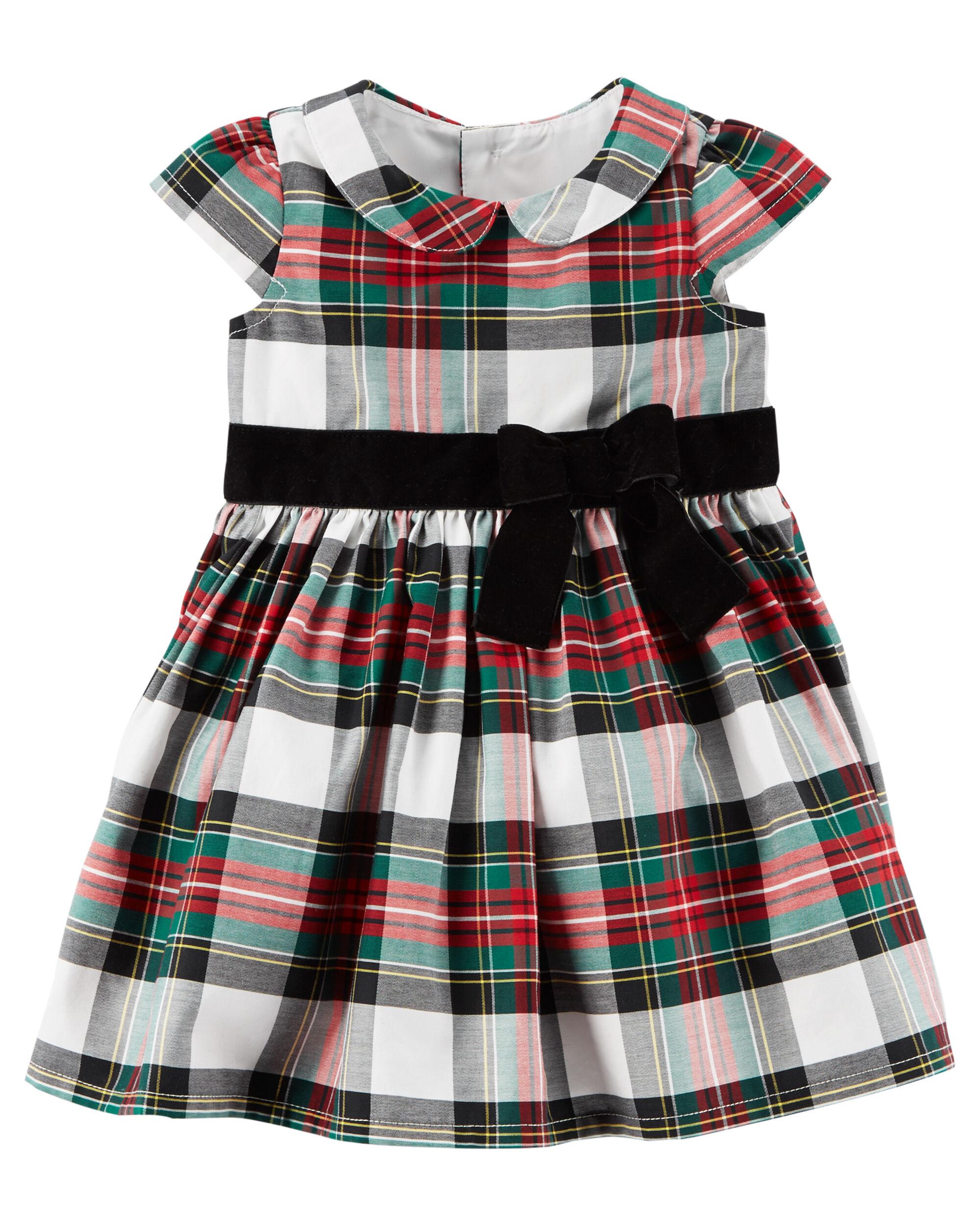 Plaid Holiday Dress ...  sc 1 st  Carteru0027s & Plaid Holiday Dress | Carters.com