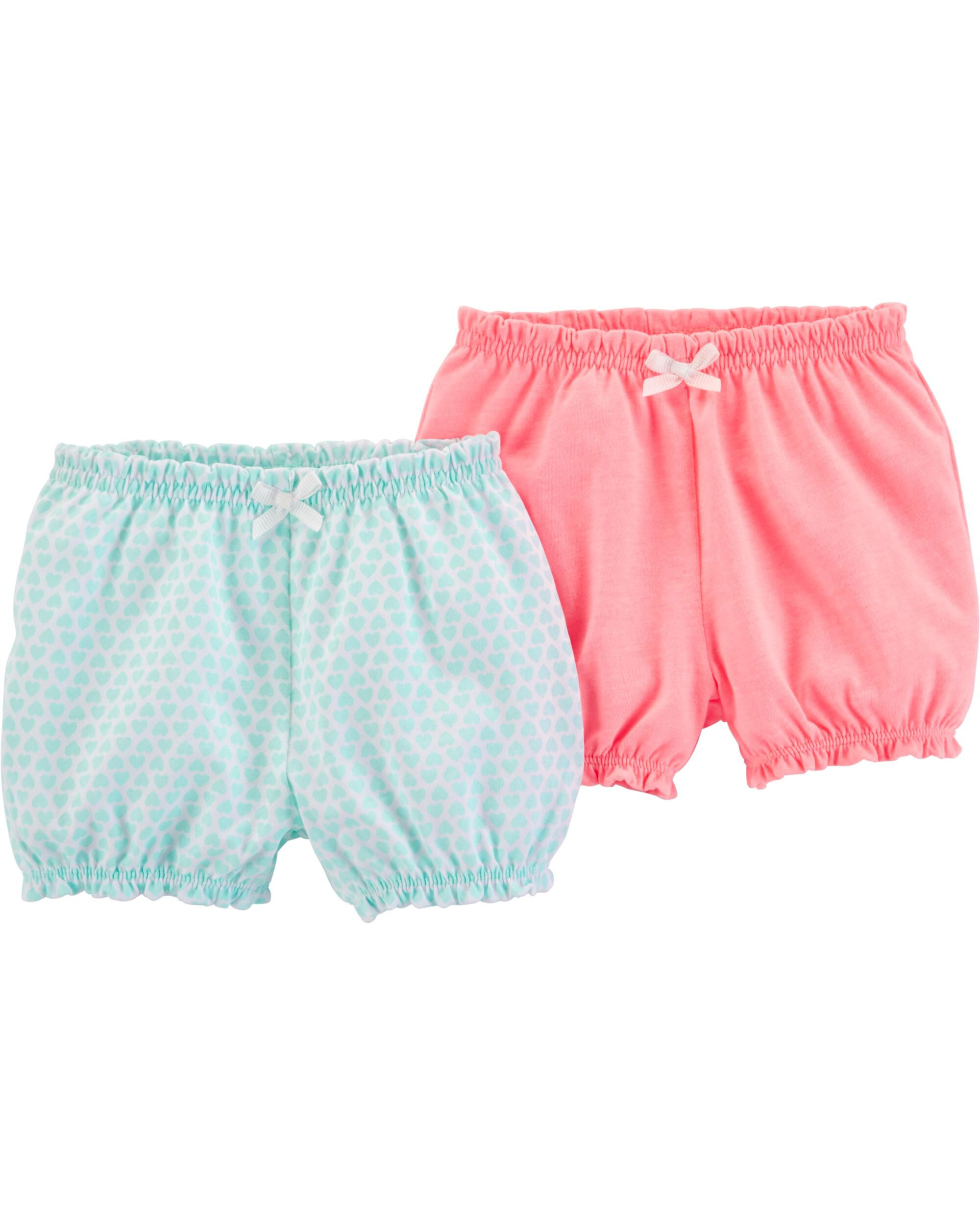 Carters Baby Girls Pull-On Bubble Shorts Cloud Print