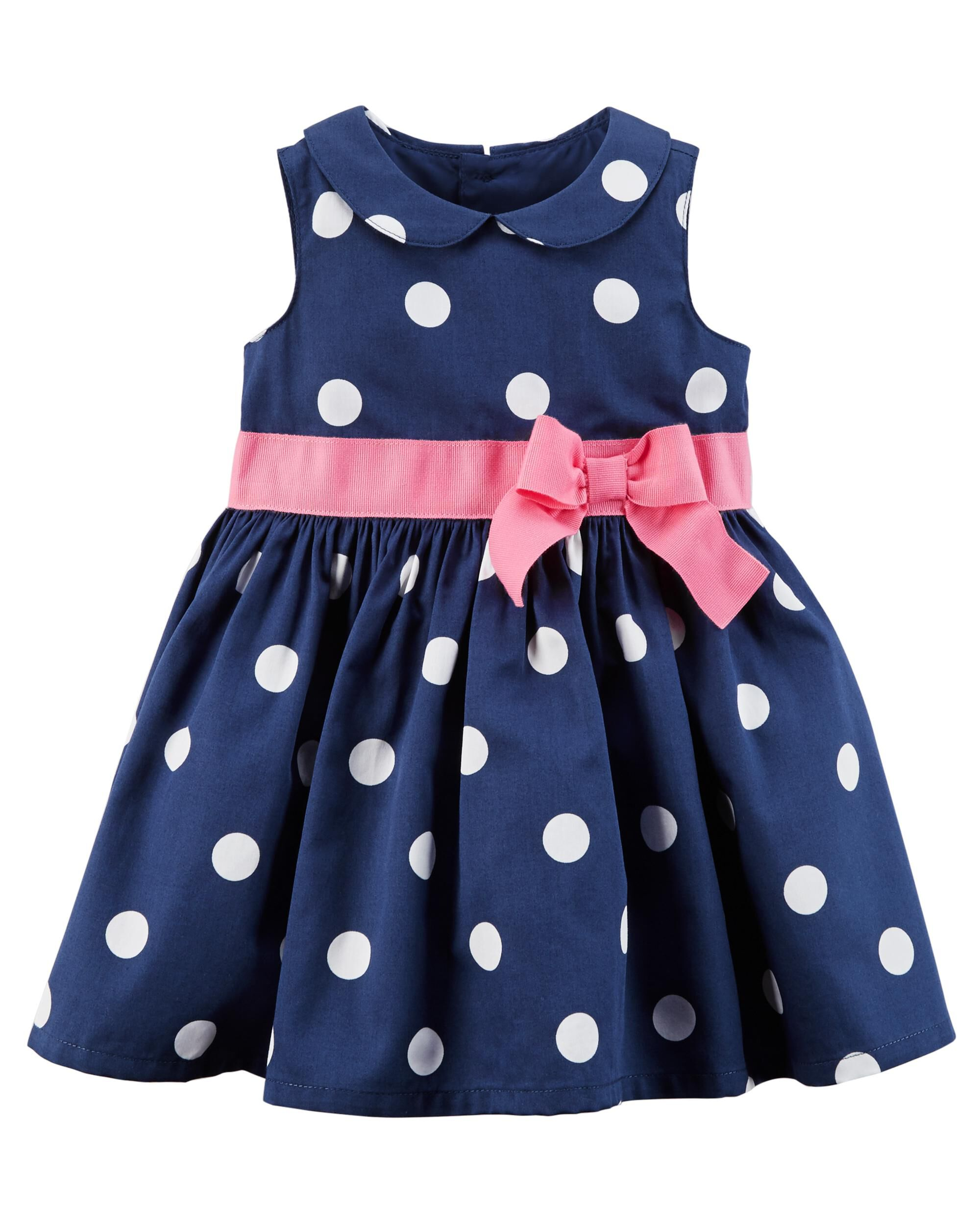Polka Dot Sateen Dress