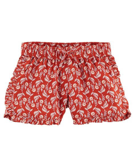 Flowy Floral Print Shorts