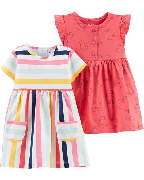 22cd193397 2-Pack Jersey Dress Set