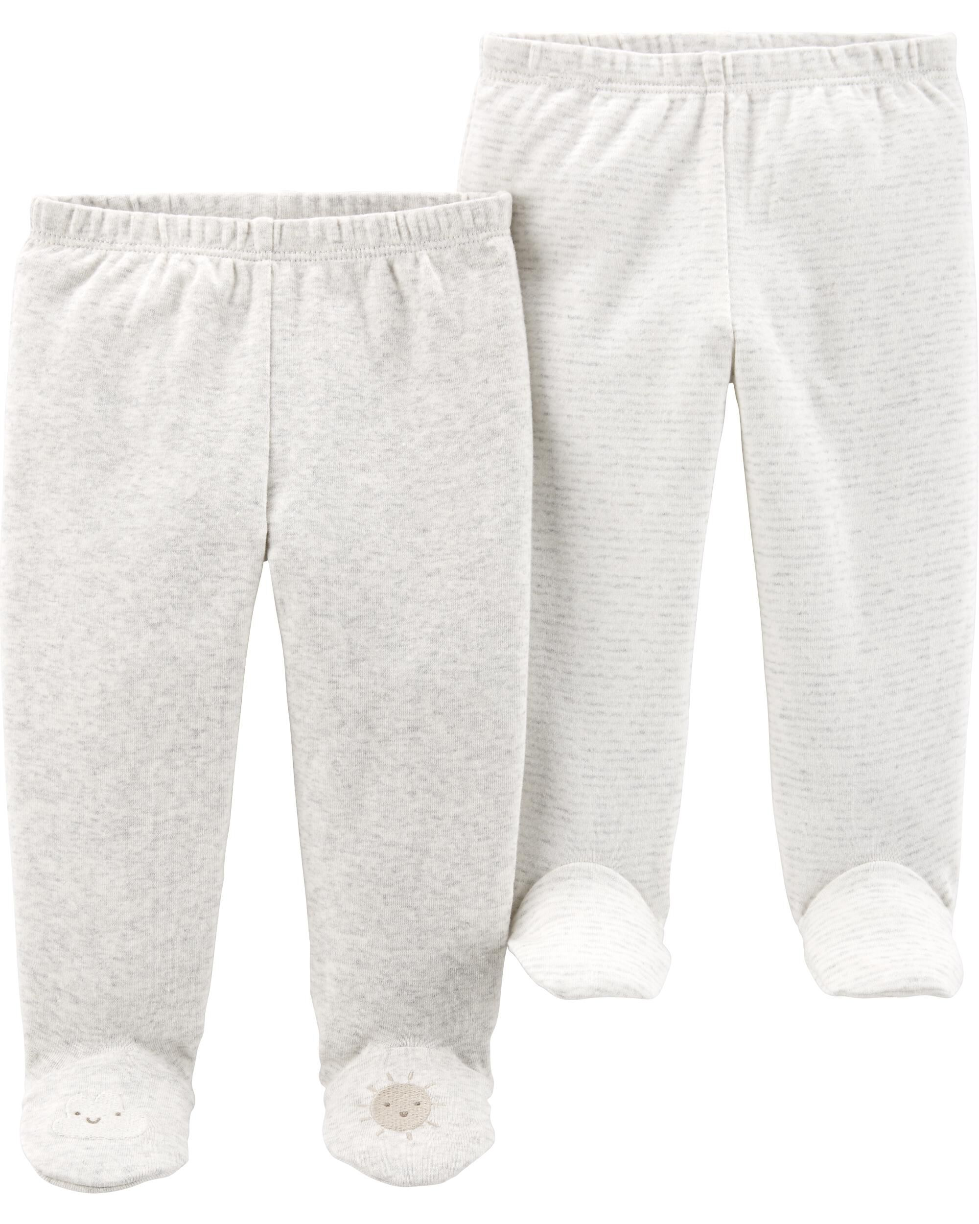 Carters Girls Baby Toddler Kids 2 Pack Cotton Leggings