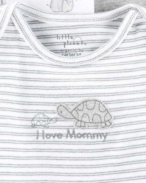 3-Pack Elephant Certified Organic Bodysuits