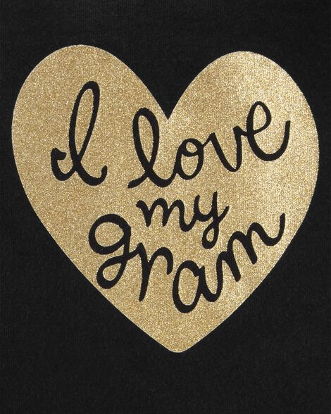Love Gram Glitter Heart Collectible Bodysuit