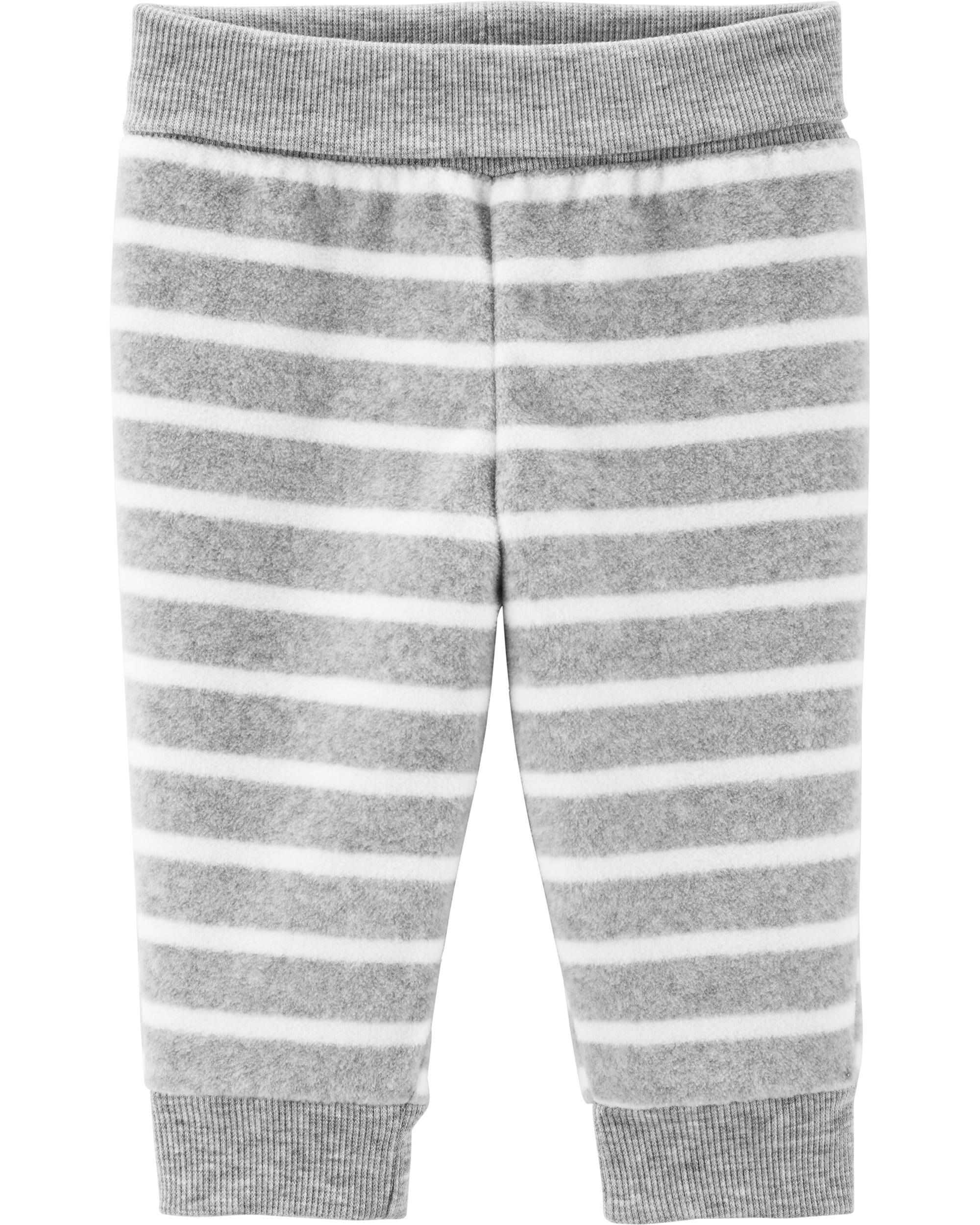 *CLEARANCE* Striped Pull-On Fleece Pants