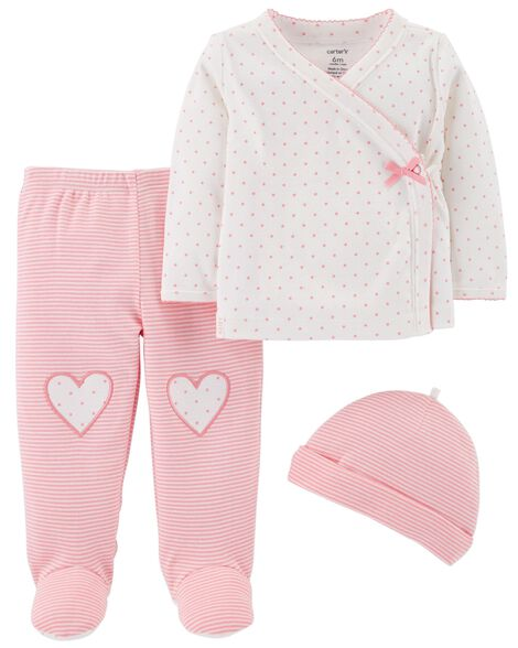 156f493cb3b4 3-Piece Footed Pant Set
