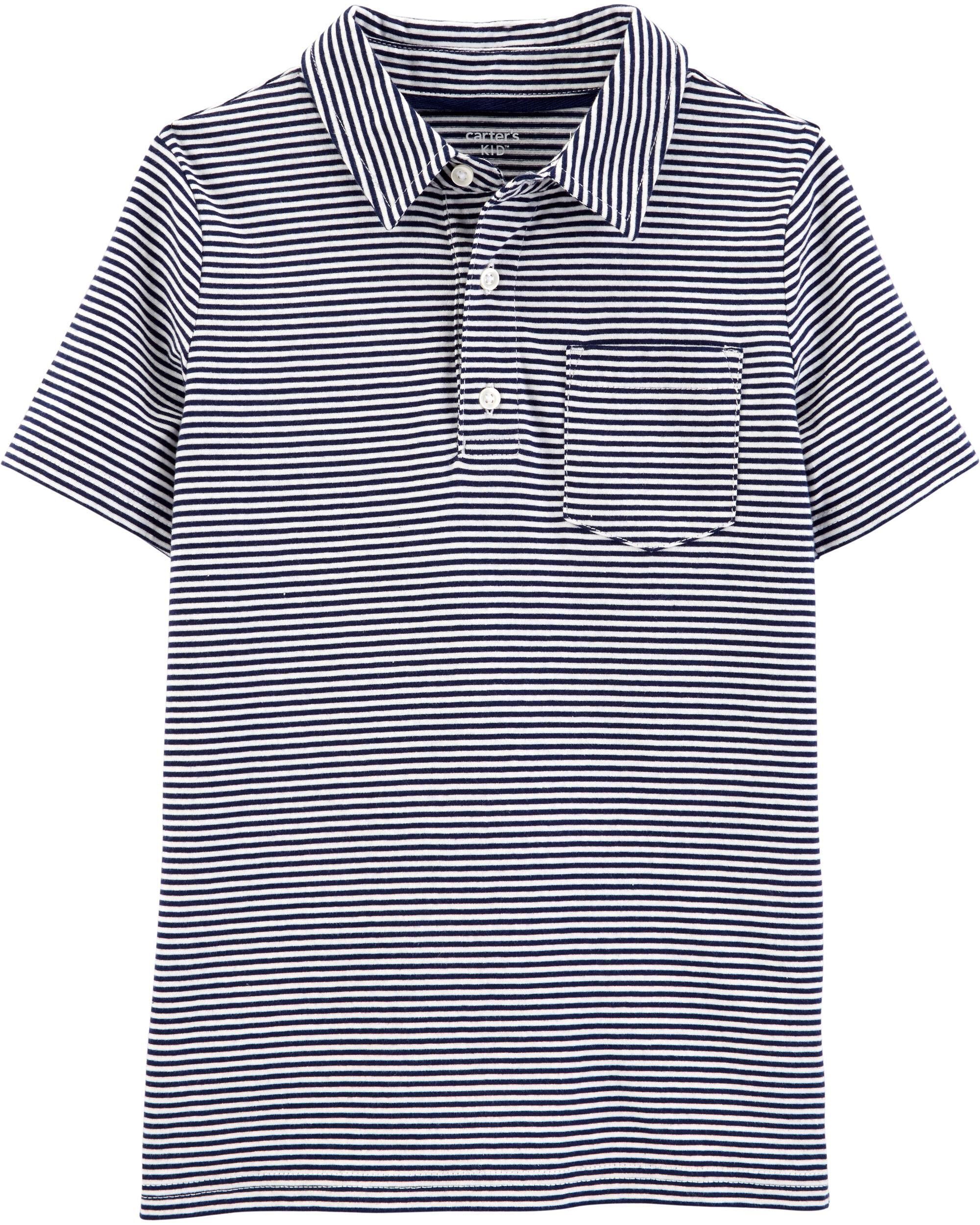 *DOORBUSTER* Striped Jersey Polo