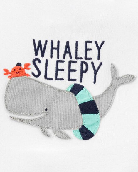 4-Piece Whale Snug Fit Cotton PJs