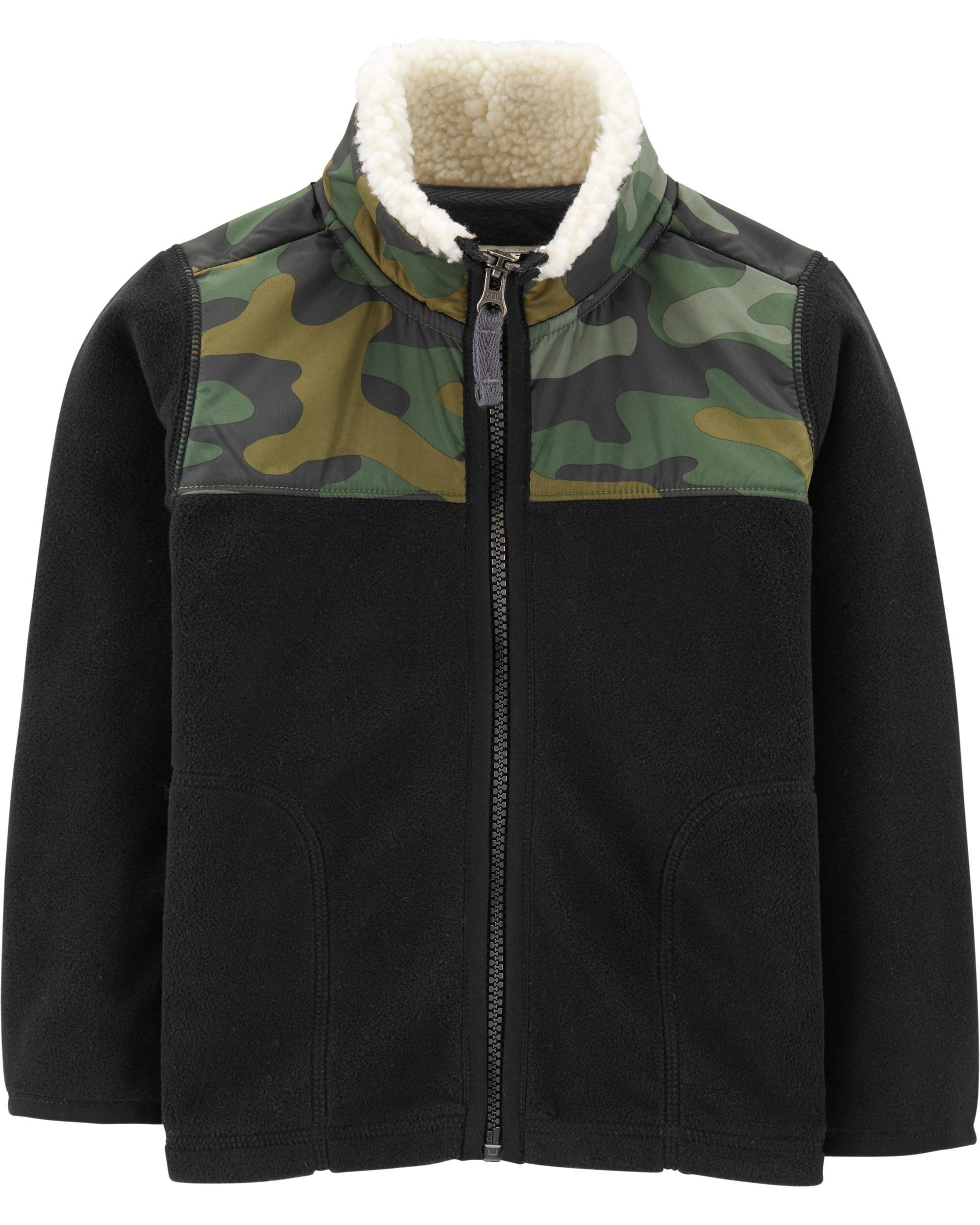 Camo Zip-Up Fleece Jacket Toddler Boy Rain Coats, Jackets \u0026 Outerwear | Carter\u0027s Free Shipping