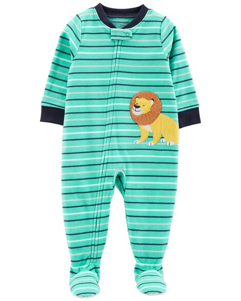 889b6b6afd63 1-Piece Lion Fleece PJs