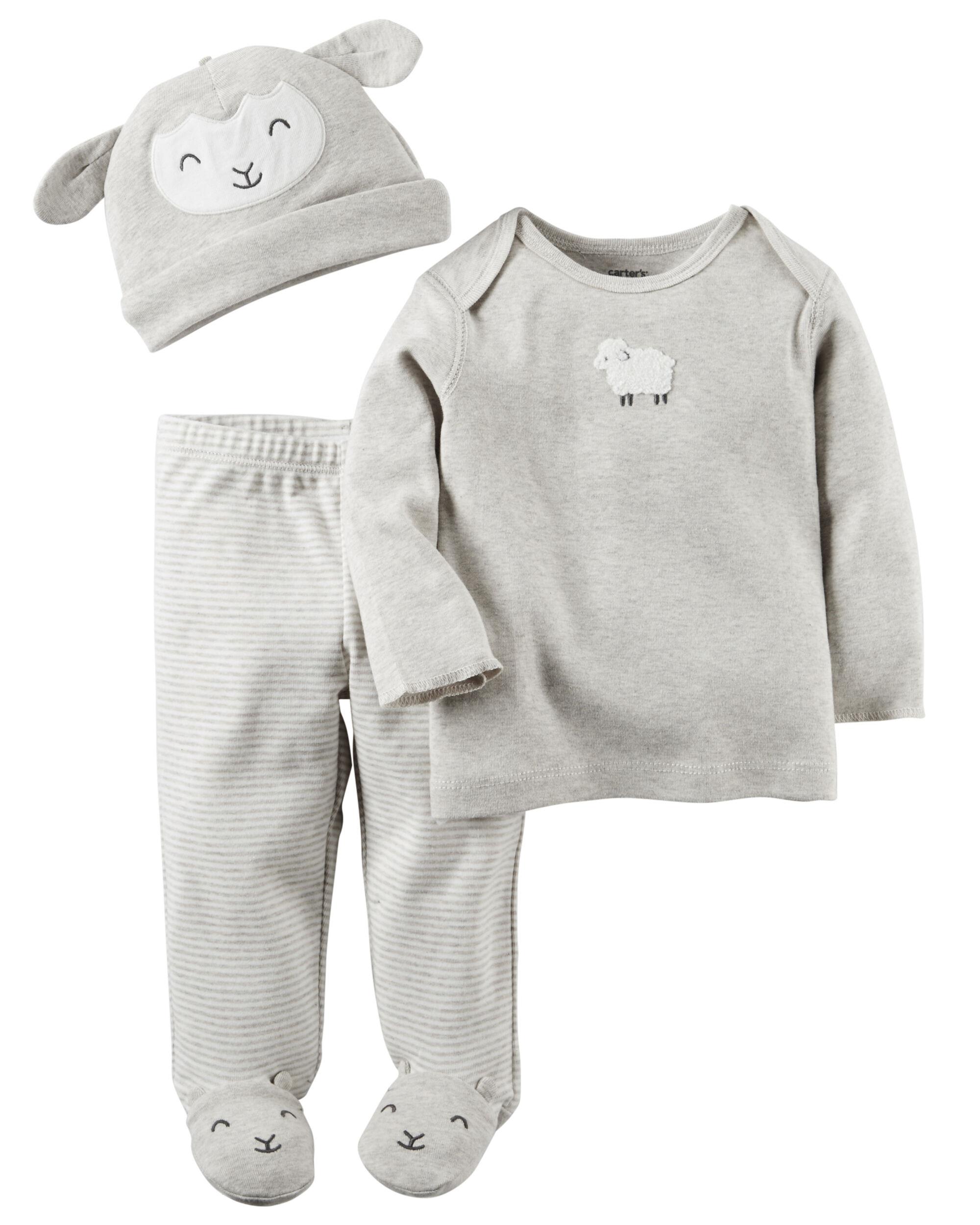 3 Piece Babysoft Footed Pant Set