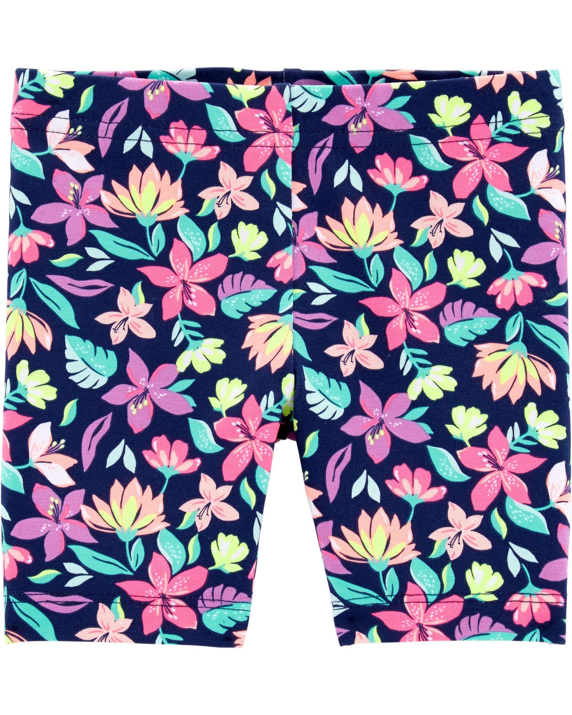 Carters Baby Girls 2-Pack Tumbling Shorts Black//White