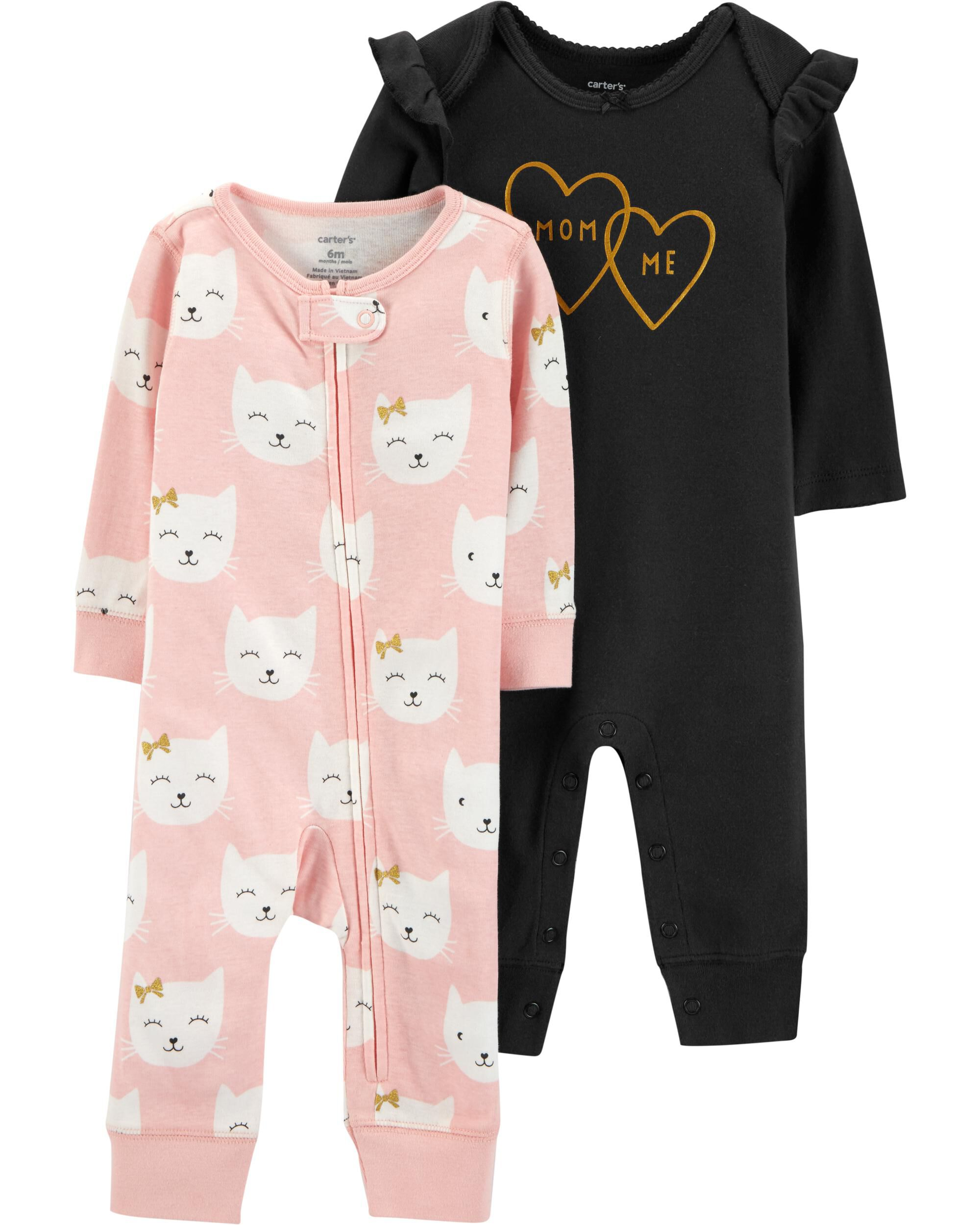 Carters Baby Girls 2-pk Mom /& Me Jumpsuits