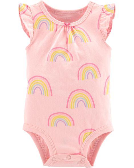 d8227ee50 Rainbow Flutter-Sleeve Collectible Bodysuit | Carters.com