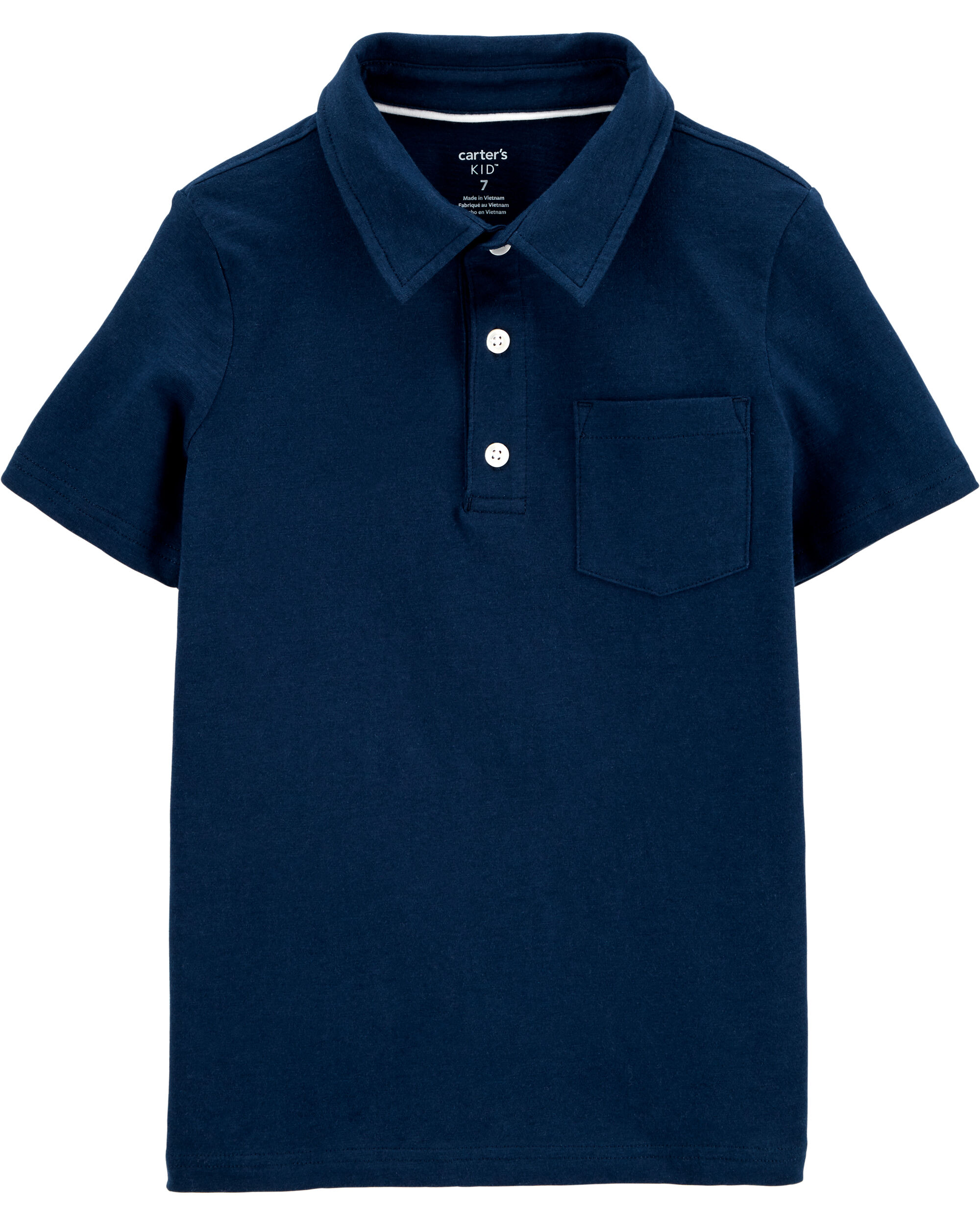 Red /& Navy NWT pullover Carters Toddler Boys TWO Short Sleeve Knit Polo Shirts