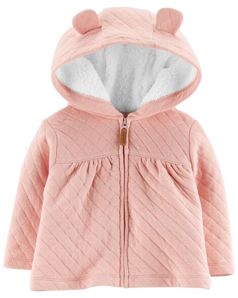 b7433d09f Zip-Up Quilted Heather Jacket