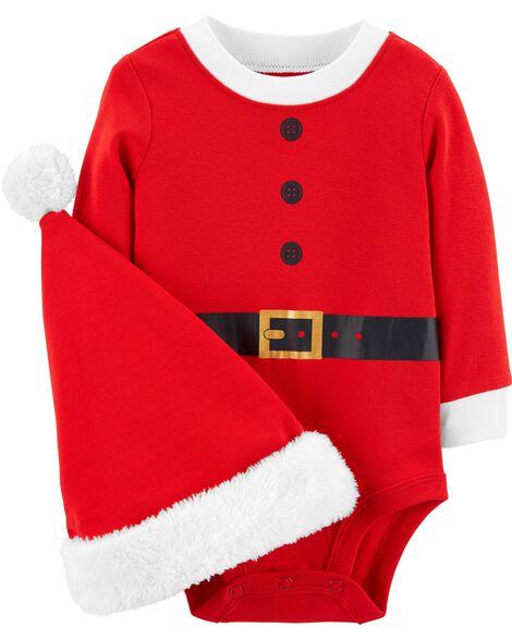 a31a1fc1ffe Baby Boy 2-Piece Santa Bodysuit   Hat Set