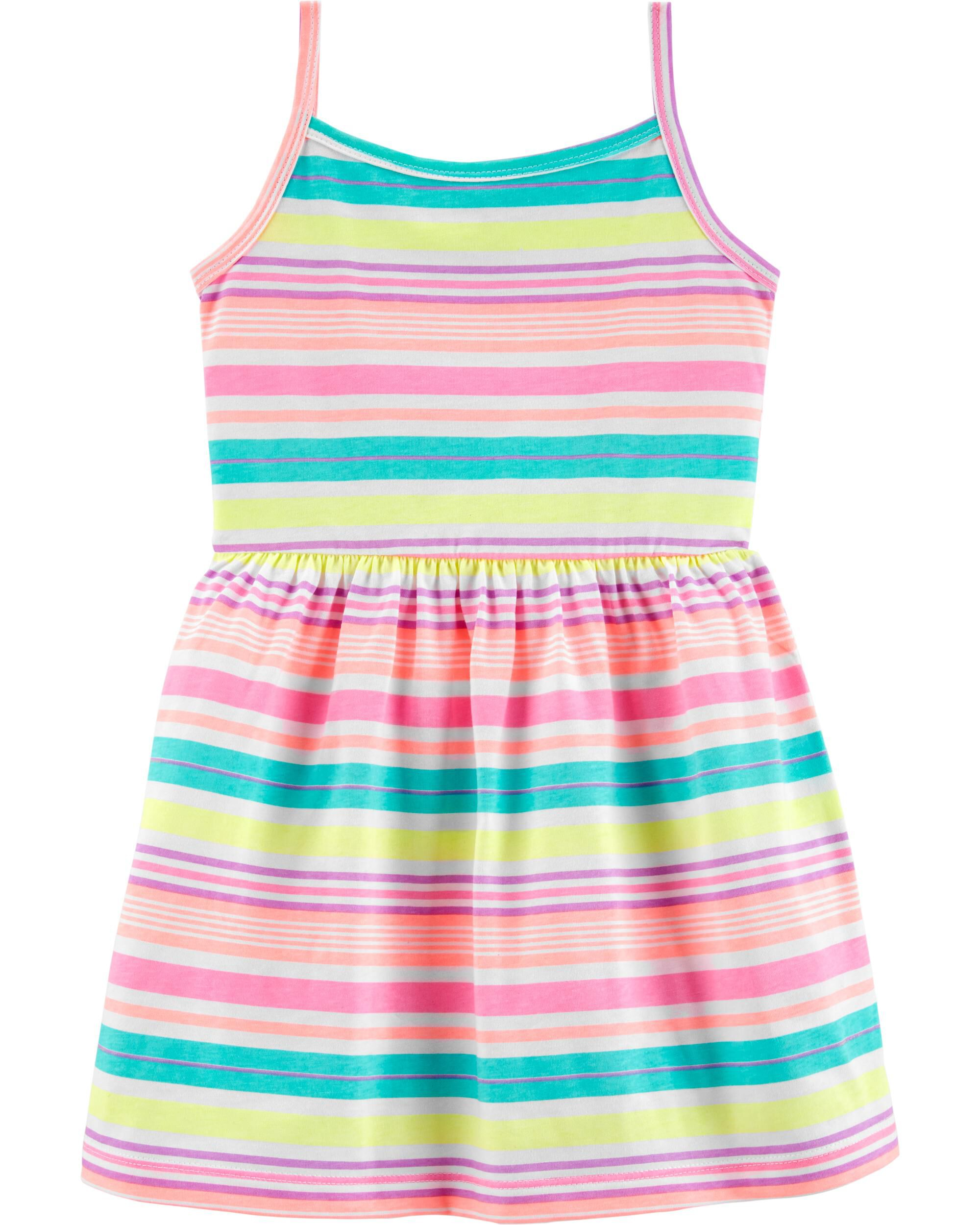 Baby & Toddler Clothing Carters Girls Red Stripe Embroidered Dress 18 Months Girls' Clothing (newborn-5t)