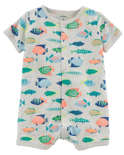 8453bd24b4 Fish Snap-Up Cotton Romper | Carters.com