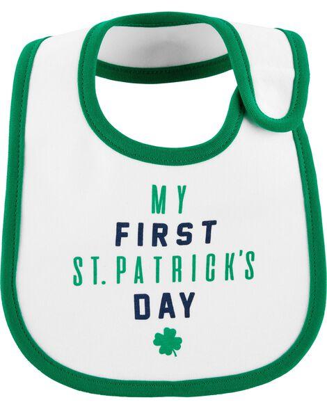 St. Patrick's Day Teething Bib
