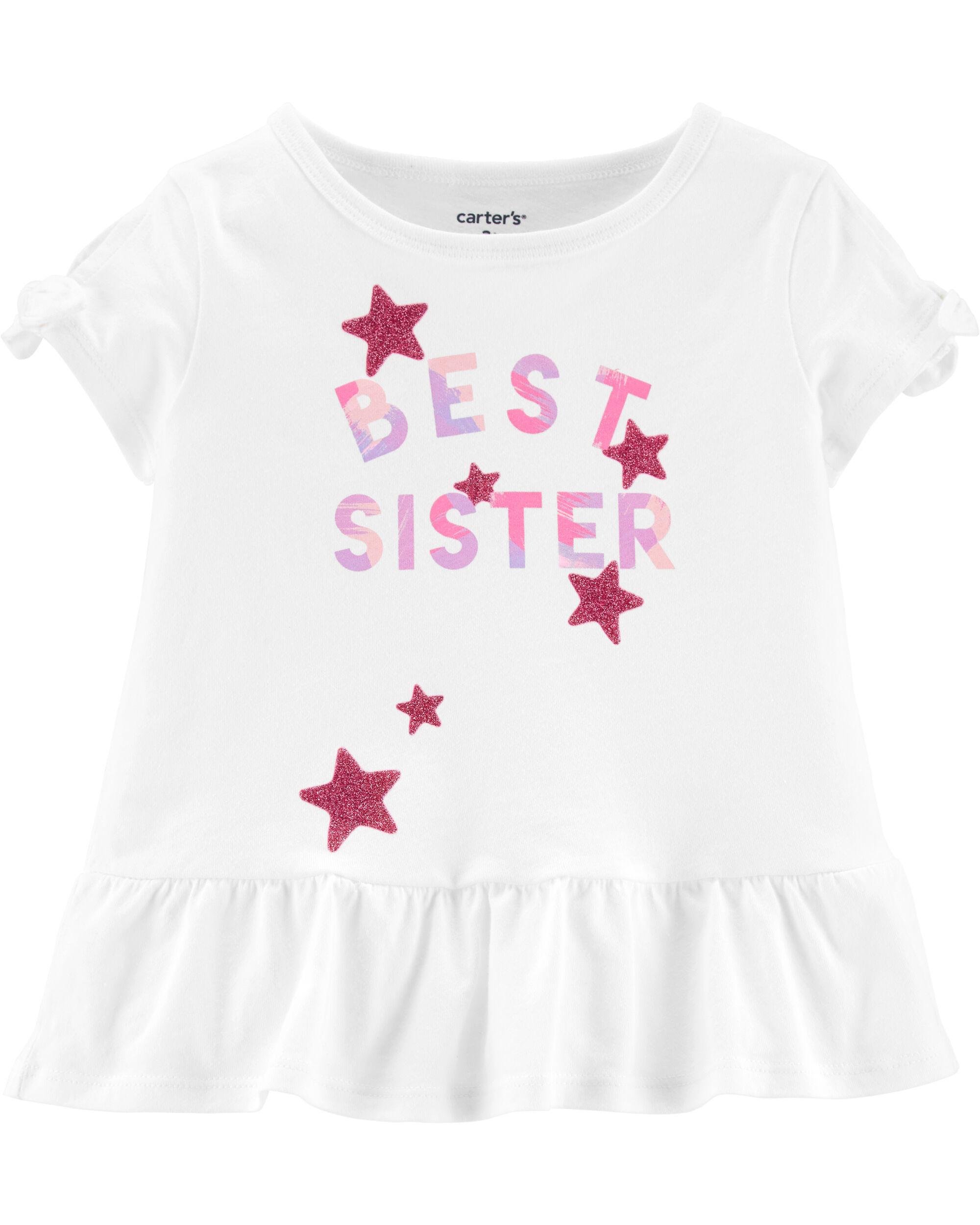 NEW Carter/'s Best Little Sister Pink Short Sleeve Bodysuit Newborn 3m 6m 9m