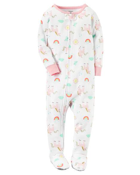 8933e7044f0a 1-Piece Unicorn Snug Fit Cotton PJs