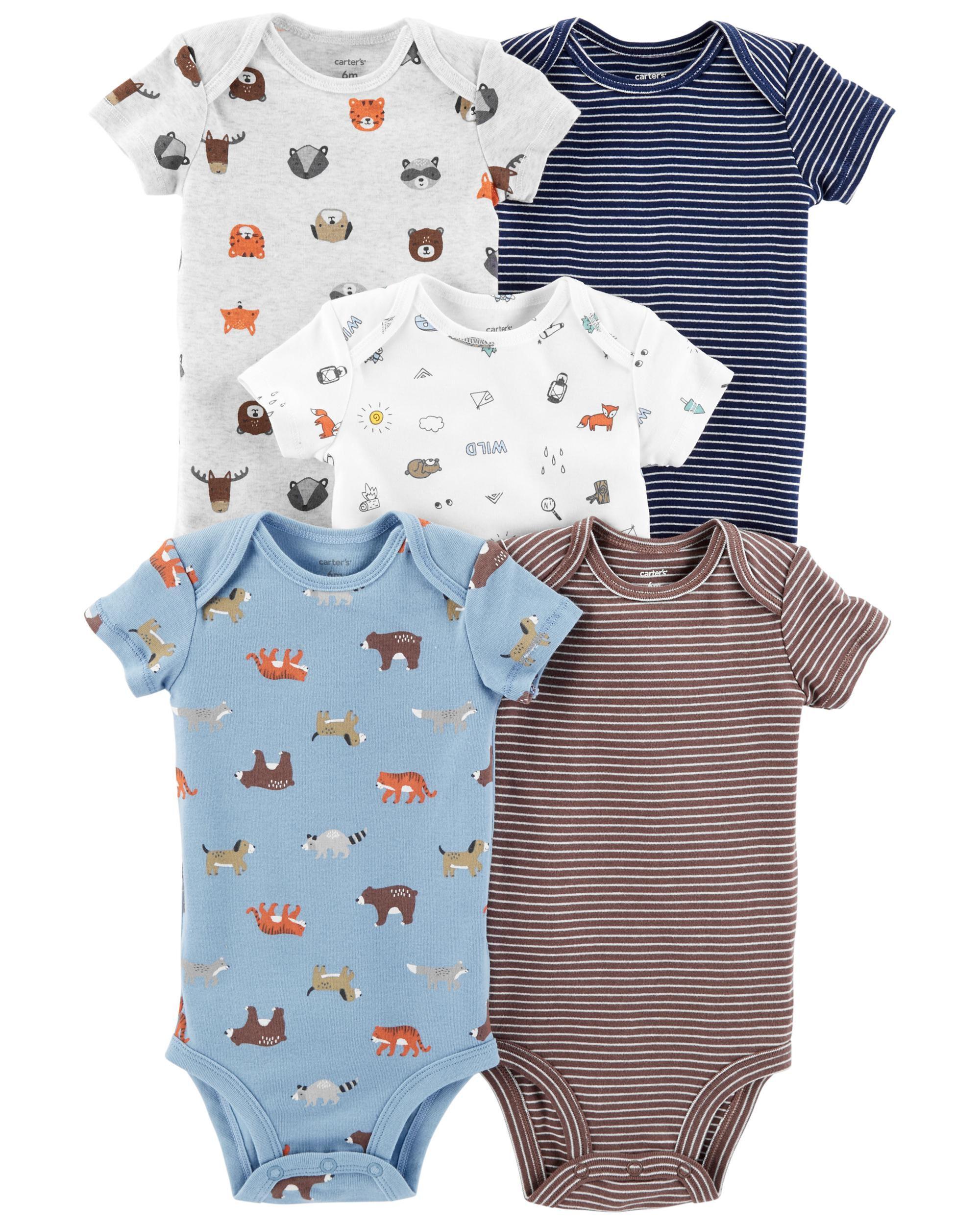 Carters Baby Boy 5-Pack Striped Original Bodysuits